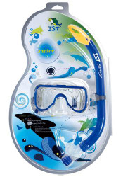IST Sports Childs Mask & Snorkel Combo Set in Blue