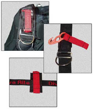 Dive Rite Z-Knife for vertical shoulder straps