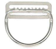 "Dive Rite 2"" D-Ring Bent Stainless Steel on Belt Slide."