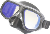 Stealth Reflective Coating Dual Lens Black Silicone Mask