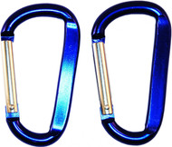 Beaver Alloy Carabiner Choice Of Sizes And Colour. 2 Pack