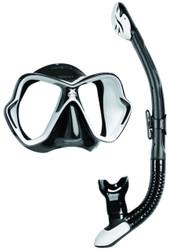 Mares X Vision Ultra Liquidskin Ergo Dry Mask & Snorkel Set. Black/White
