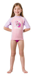 Mares Kids (Age 2 - 7) Pink Short Sleeved Rash Guard - Size choice