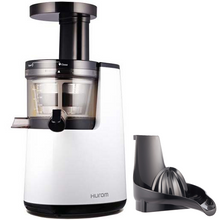 Hurom HU 700 Slow Juicer in Pearl White with Citrus Attachment