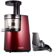Hurom HU 700 Slow Juicer in Red with Citrus Attachment