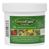 "GreenCure is a potassium bicarbonate based fungicide used to control powdery mildew, black spot and other common plant diseases. GreenCure is recommended as a foliar treatment for more than 85 different plant varieties including vegetables, trees, ornamentals and houseplants. One tablespoon of powdered GreenCure to 1 gallon of water will cover approximately 450 square feet. GreenCure is also registered ""for organic production"" by the USDA's National Organic Program (NOP)."