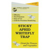 "These 4"" x 7"" Sticky Aphid/Whitefly Traps unfold to expose adhesive on both sides to cover approximately 30 square inches per trap. Yellow coloration of weatherproof cards attracts aphids, whiteflies, leafhoppers, froghoppers, moths, and more. Pack of 30 traps."