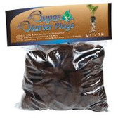 Super Starter Plugs provide an ideal air-to-water ratio to give plants the best start possible. These bioactive plugs are comprised primarily of composted tree bark and peat moss and can be used in soil or hydroponic applications. A predrilled hole in each plug makes planting a cinch. Pack of 72.
