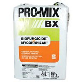 PRO-MIX BX BIOFUNGICIDE + MYCORRHIZAE is a general-purpose, peat-based professional growing medium suitable for a wide variety of horticultural plants and transplanting applications. This medium provides the protection of a high-quality biofungicide and the growth-enhancing qualities of 100% contaminant-free Premier Tech mycorrhizae. The biofungicide is Bacillus pumilis, bacteria that colonize developing root systems to suppress disease-causing organisms that attack roots, such as pythium, fusarium and rhizoctonia. The bacteria also act as a biostimulant that develops with the roots to establish a vigorous root system, resulting in more uniform plant stands after transplantation and greater crop yields. 3.8 cu ft of compressed PRO-MIX equals about 7 cu ft in use.