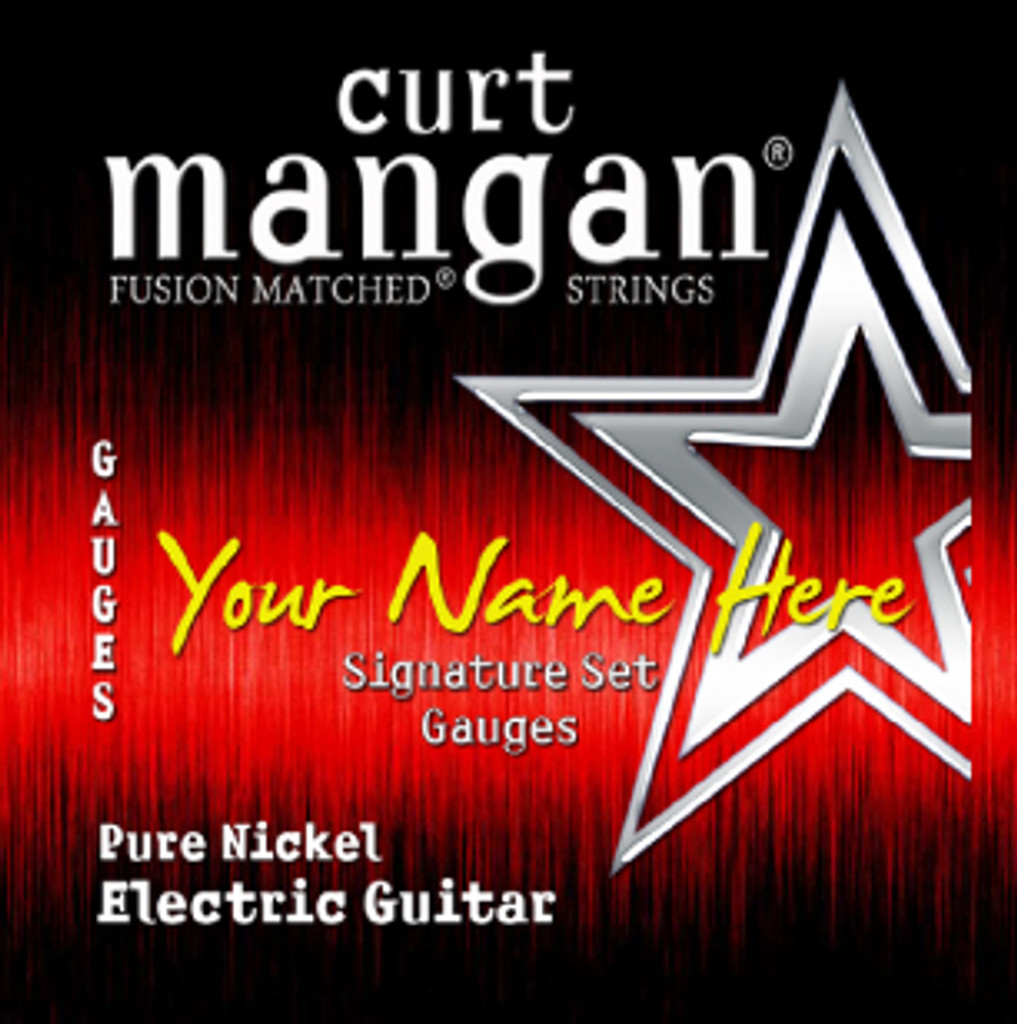 8 X Custom Built Pure Nickel Plain 3rd String Signature Sets