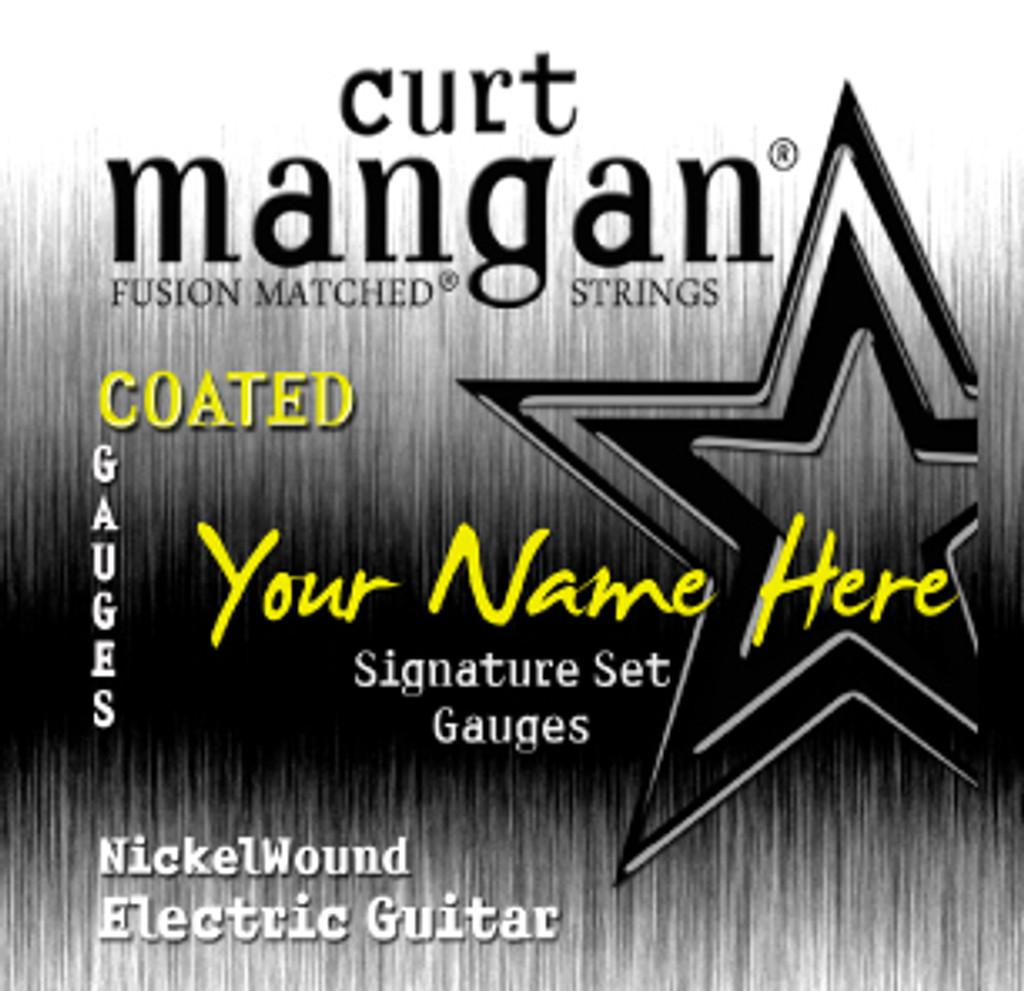 8 X Custom Built Nickel Wound Steel Signature Set - 6 String Plain 3rd Signature Sets COATED