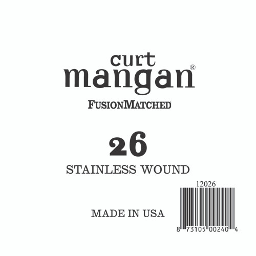 26 Stainless Wound Ball End Single String