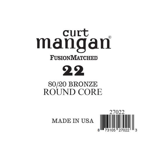22 80/20 Bronze ROUND CORE Single String