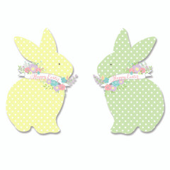 Easter bunnies, laser-cut
