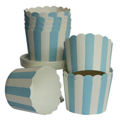 [SALE] Baking / Treat cups, blue and white striped