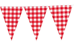 Extra, Extra Large Bunting, Red