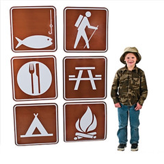 Jumbo Camp / Picnic Sign Cutouts