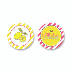 Old Fashioned Lemonade Cupcake Toppers