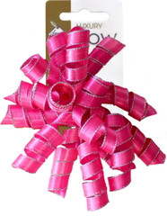 Satin Ribbon Curlies, Hot Pink