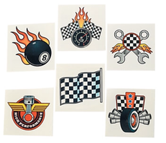 Speed Racer Temporary Tattoos