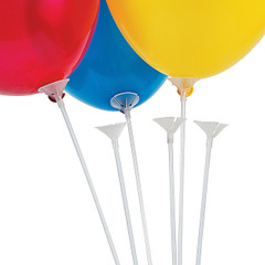 Plastic Balloon Sticks with Cup