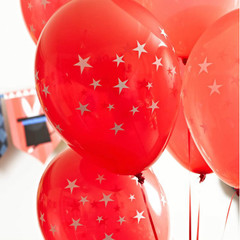 [SALE] Balloons, Red with White Stars