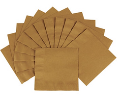 Gold Metallic Beverage Napkins