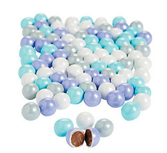 Chocolate Candies, Shimmer Blue, Lavender, White & Silver