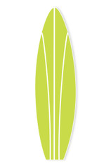 Surf Board, Green 4.9' tall