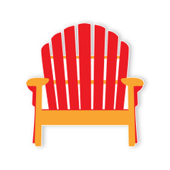 Surf'in Beach Chair, Red 3' tall