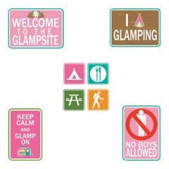 Glam Camping Sign Cut Outs