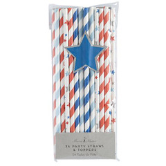 4th of July Paper Straws