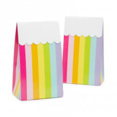 Favor Box, Rainbow Stripes