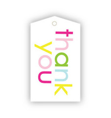 Thank You Rainbow Gift Tags