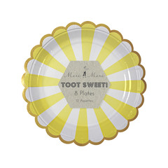Toot Sweet Small Yellow Striped Plate