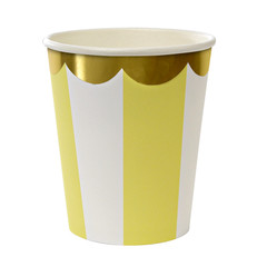 Toot Sweet Yellow Striped Cups