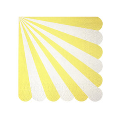 Toot Sweet Yellow Striped Napkins