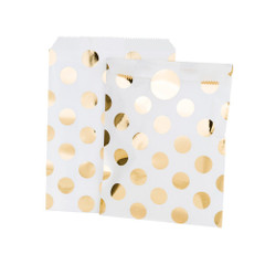 Gold Polka Dot Treat Bag