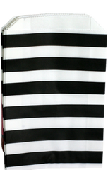 Treat Bag, Black and White Stripes