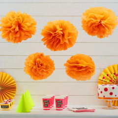 Pom Poms, Neon Orange