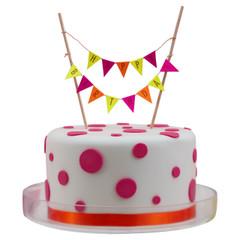 Neon Birthday Cake Bunting