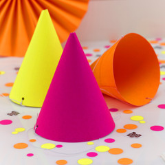 Neon Birthday Party Hats