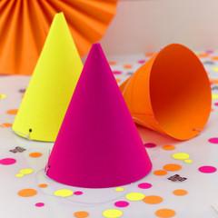 Neon Birthday Party Hats