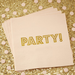 Gold Foiled Napkins