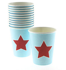 Blue and Red Star Party Cups