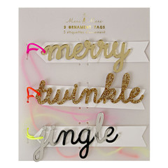 Gift Tag, Merry/Twinkle/Jingle