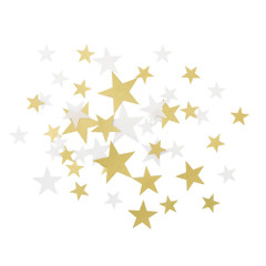 Confetti, Gold & Cream Stars