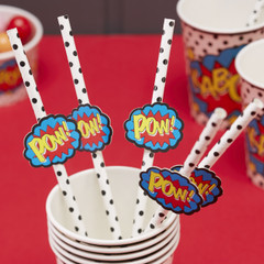 Super Hero Straws