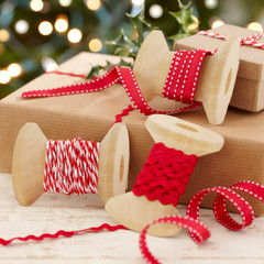 Ribbon Kit, Red and White