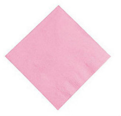 Candy Pink Beverage Napkins